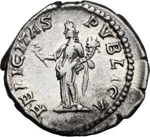 reverse: Geta as Caesar (198-209).. AR Denarius, Rome mint