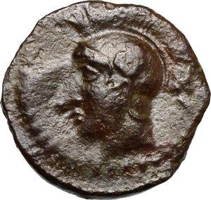 obverse: Kamarina. AE Tetras, c. 420-405 BC