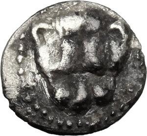 obverse: Leontini. AR Obol, c. 485-466 BC