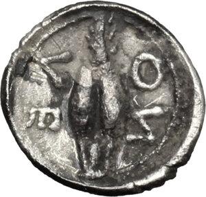 reverse: Leontini. AR Obol, c. 485-466 BC