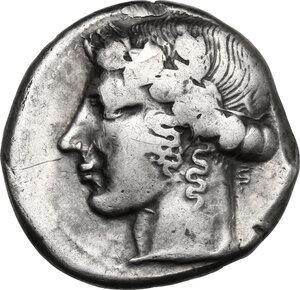 obverse: Leontini. AR Tetradrachm, c. 440-430 BC