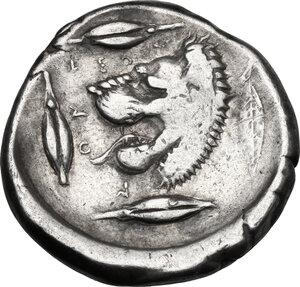 reverse: Leontini. AR Tetradrachm, c. 440-430 BC