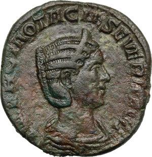 obverse: Otacilia Severa, wife of Philip I (244-249).. AE Sestertius