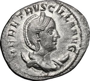 obverse: Herennia Etruscilla, wife of Trajan Decius (249-251 AD).. AR Antoninianus