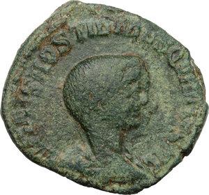 obverse: Hostilian as Caesar (251 AD).. AE Sestertius, Rome mint