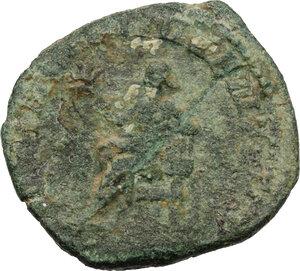 reverse: Hostilian as Caesar (251 AD).. AE Sestertius, Rome mint