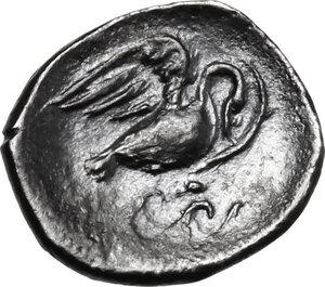 reverse: Panormos as Ziz. AR Litra, c. 405-380 BC