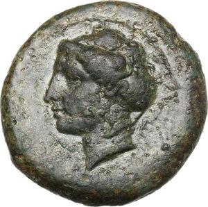 obverse: Syracuse. AE 18 mm. c. 415 BC