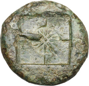 reverse: Syracuse. AE 18 mm. c. 415 BC