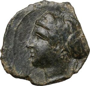 obverse: Syracuse.  Dionysios I (405-367 BC.).. AE Hemilitra, c. 405-400 BC