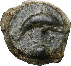 reverse: Syracuse.  Dionysios I (405-367 BC.).. AE Hemilitra, c. 405-400 BC