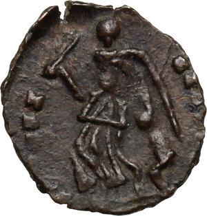 reverse: Barbaric Imitative Coinage.. AE 11 mm. 4th century AD