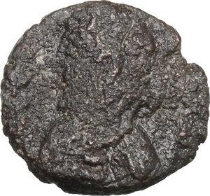 obverse: Vandals in North Africa. Municipal Coinage (circa 480-533 AD).. AE 4 Nummi. Class II. Struck circa 523-533