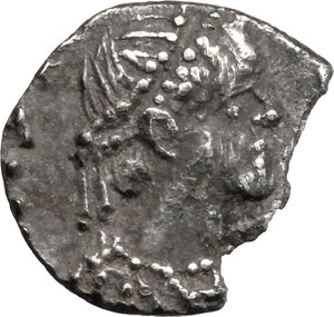 obverse: Ostrogothic Italy. Theoderic (493-526).. AR Quarter Siliqua in the name of Anastasius I, Ravenna mint, 493-518 AD