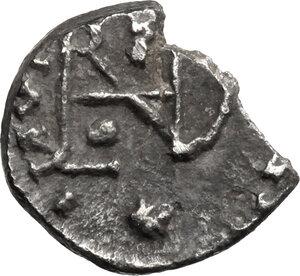 reverse: Ostrogothic Italy. Theoderic (493-526).. AR Quarter Siliqua in the name of Anastasius I, Ravenna mint, 493-518 AD