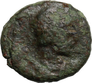 obverse: Ostrogothic Italy, Theoderic (493-526).. AE Nummus, in the name of Justinian I, Rome (?) mint