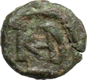 reverse: Ostrogothic Italy, Theoderic (493-526).. AE Nummus, in the name of Justinian I, Rome (?) mint