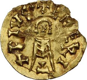 reverse: Visigoths in Spain. Sisebut (612-621).. AV Tremissis. Emerita (Mérida) mint