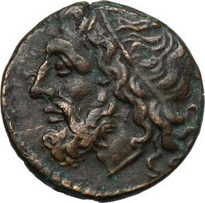 obverse: Syracuse.  Hieron II (275-215 BC).. AE 18 mm