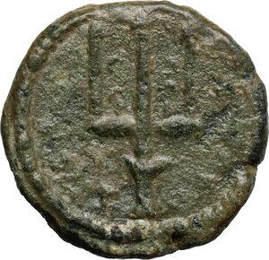 reverse: Syracuse.  Fifth Democracy (214-212 BC).. AE 15 mm