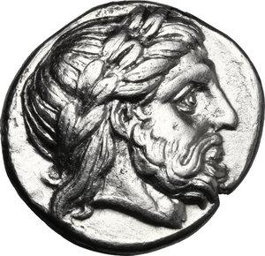 obverse: Kings of Macedon.  Philip II (359-336 BC).. AR Tetradrachm, Amphipolis mint. Kassander as regent, c. 316-311 BC