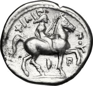 reverse: Kings of Macedon.  Philip II (359-336 BC).. AR Tetradrachm, Amphipolis mint. Kassander as regent, c. 316-311 BC