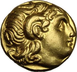 obverse: Kings of Thrace.  Lysimachos (305-281 BC).. AV Stater