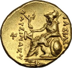 reverse: Kings of Thrace.  Lysimachos (305-281 BC).. AV Stater