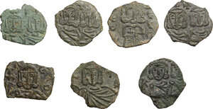 obverse: Byzantine Empire. Constantine V (741-755), Nicephorus I (802-811) and Leo V (813-820).. Multiple lot of seven (7) unclassified Folles of Syracuse mint