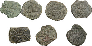 reverse: Byzantine Empire. Constantine V (741-755), Nicephorus I (802-811) and Leo V (813-820).. Multiple lot of seven (7) unclassified Folles of Syracuse mint