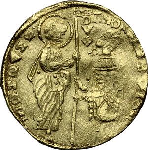 obverse: Foglia Vecchia (Phocaea).  Andreolo Cattaneo Della Volta (1314-1331).. AV Ducato, imitation of a Venetian ducat