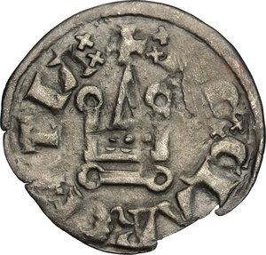 reverse: Frankish Greece, Achaea.  Charles II of Anjou (1285-1289).. BI Denier, Tournois series, Glarentza mint
