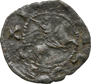 reverse: Ancona.  Repubblica Autonoma (Sec. XIII-XV). Quattrino (modulo ridotto), emissioni del XV sec