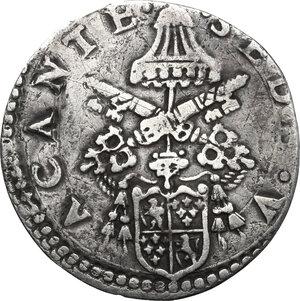 obverse: Ancona.  Sede Vacante (1555), Camerlengo Cardinal Guido Ascanio Sforza. Giulio