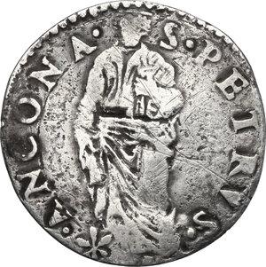 reverse: Ancona.  Sede Vacante (1555), Camerlengo Cardinal Guido Ascanio Sforza. Giulio