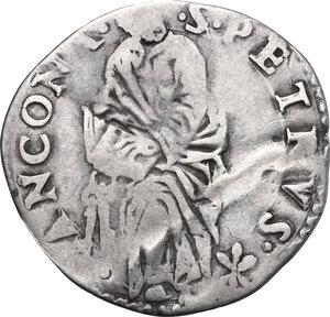reverse: Ancona.  Marcello II (1555), Marcello Cervini degli Spannocchi. Giulio, II tipo