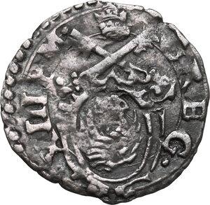 obverse: Ancona.  Gregorio XIII (1572-1585), Ugo Boncompagni. Quattrino