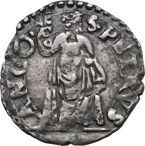 reverse: Ancona.  Gregorio XIII (1572-1585), Ugo Boncompagni. Quattrino