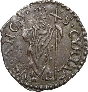 reverse: Ancona.  Sisto V (1585-1590), Felice Peretti. Quattrino
