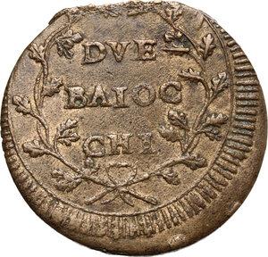 reverse: Ancona.  Repubblica Romana (1798-1799).. Due Baiocchi, sigle A P