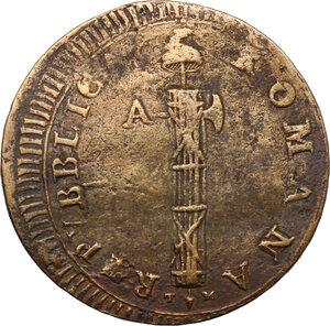 obverse: Ancona.  Repubblica Romana (1798-1799).. Due Baiocchi senza sigle