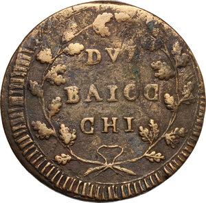 reverse: Ancona.  Repubblica Romana (1798-1799).. Due Baiocchi senza sigle