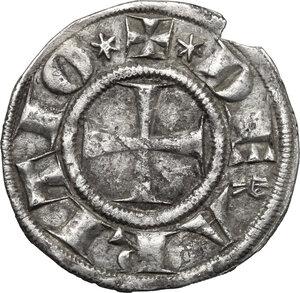 obverse: Arezzo.  Guglielmo degli Ubertini (1267-1289). Grosso agontano