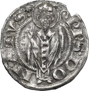 reverse: Arezzo.  Guglielmo degli Ubertini (1267-1289). Grosso agontano
