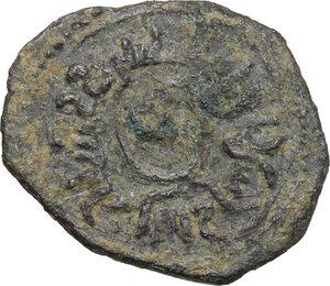 reverse: Bari.  Ruggero II (1105-1154). Follaro o mezzo follaro, 1139-1140
