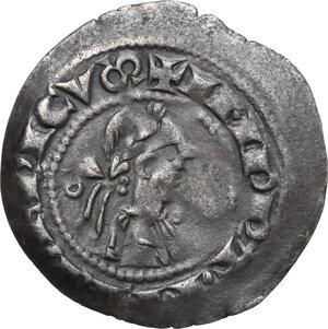 obverse: Bergamo.  Comune. Federico II Imperatore (sec. XII-XIV).. Denaro scodellato