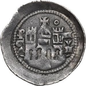 reverse: Bergamo.  Comune. Federico II Imperatore (sec. XII-XIV).. Denaro scodellato