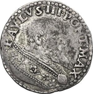 obverse: Bologna.  Paolo III (1534-1549), Alessandro Farnese.. Doppio Bolognino