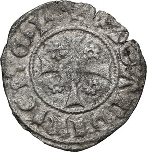 reverse: Bonaria.  Giacomo II d Aragona (1323-1327). Alfonsino minuto