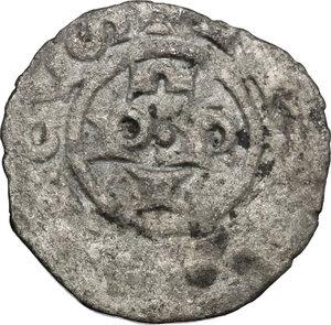 reverse: Brescia.  Comune a nome di Federico I (1186-1250). Denaro piatto